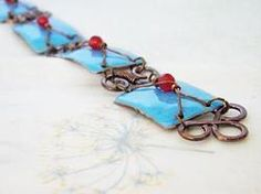 Enamel bracelet - inca's treasure  by Boroka Halasz http://www.h-art.com.au/#!product/prd1/640858651/enamel-bracelet---inca%27s-treasure-