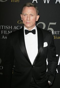 Daniel Craig Black Suit with Shawl Lapel