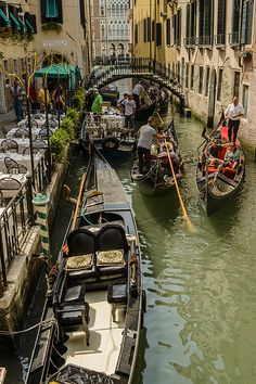 Gondolas of Venice,