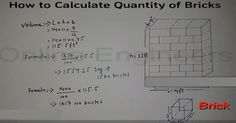 In this construction video tutorial, the renowned engineer Sajid provides some useful tips on how to calculate quantity of bricks in building. Building Construction Materials, Construction Business, Civil Engineering Software, Cement, Concrete, Physics Notes, Bricks, Calculator, Architecture Design