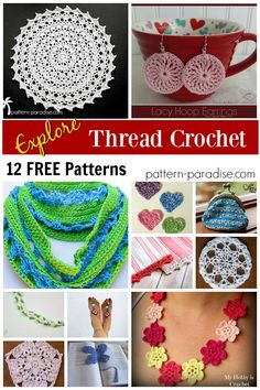 12 Free Patterns - Thread Crochet! Pattern Paradise