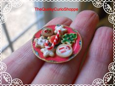 Christmas Dollhouse Miniature Cookies Food by TheQuirkyCurioShoppe, $6.00