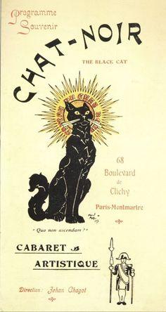 Affiche pour le Caveau du Chat Noir (Cabaret à Paris).