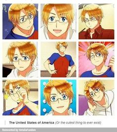 ((May I present you to Alfred Fuckingadorable [I think that's what the F. stands for] Jones, the best thing that ever happened in Hetalia.))