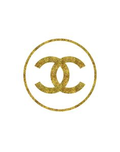 For the bedroom : Fashion Art Chanel Logo Faux Gold Print Wall by TheMotivatedType