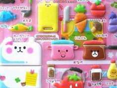 Kawaii Cute Japanese Puffy Stickers - Kawaii Omamagoto Kitchen - Toy Kitchen (S509)