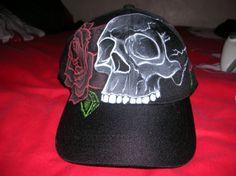 """Black Cap """"Skul and Roses"""" Talla Única"""