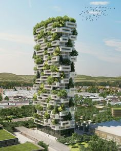 Italian architect Stefano Boeri has conceptualized a residential skyscraper that resembles a vertical jungle. #greenarchitecture