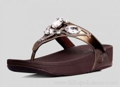Womens Fitflop Eight Diamonds Bronze Sandals