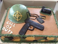Black Ops Call of Duty Cake