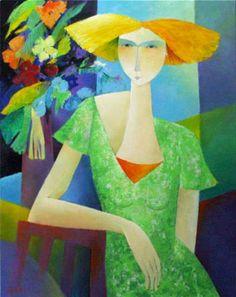Françoise Collandre (Paris, born 1939) 'Quelques Fleurs'