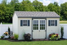 Buy an Economy Workshop Shed with wood, vinyl or clapboard siding. Great for a garden workshop shed, tool shed, lawn mower shed or a small home workshop. Storage Sheds For Sale, Diy Storage Shed Plans, Wood Shed Plans, Shed Building Plans, Storage Ideas, Backyard Sheds, Outdoor Sheds, Concrete Base For Shed, Architecture