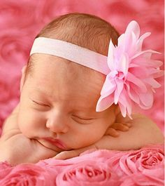 Chiffon Flower Baby Headband