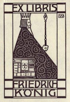 Ex Libris - Friedrich Koenig. By Wenig, Bernhard (1871-1936)