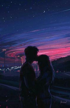 Cute Couple Drawings, Cute Couple Art, Anime Love Couple, Cute Couple Pictures, Cute Anime Couples, Couple Pics, Couple Quotes, Cute Couple Wallpaper, Anime Scenery Wallpaper