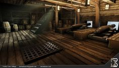 Pirate Ship Cannon idea for Joey pirate ship inside Homemade Pirate Costumes, Pirate Boats, Abandoned Ships, Pirate Halloween, Lower Deck, Below Deck, Pirate Life, Backrounds, Fantasy Landscape