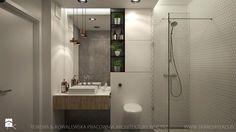 praskie klimaty - Mała łazienka w bloku bez okna, styl industrialny - zdjęcie od TK Architekci
