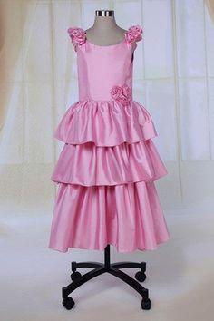 Zipper Up Satin Beach Natural Waist Multi Layer Long Fall Romantic Scoop Flower Girl Dress