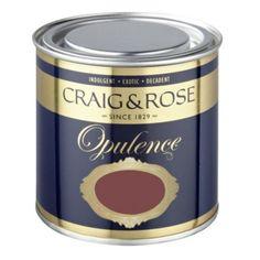 Craig & Rose Opulence Red Velvet Matt   Mirror paint, bedroom