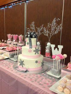 Winter wonderland baby shower for girls