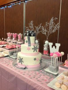 Winter wonderland baby shower for girls