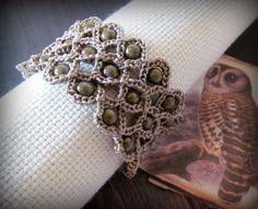 Crochet Jewelry Bohemian Bracelet or Cuff Natural by GlowCreek