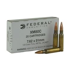 Federal Lake City 7.62x51mm NATO Ammo 149 Grain Full Metal Jacket Save those thumbs & bucks w/ free shipping on this magloader I purchased mine http://www.amazon.com/shops/raeind  No more leaving the last round out because it is too hard to get in. And you will load them faster and easier, to maximize your shooting enjoyment.  loader does it all easily, painlessly, and perfectly reliably