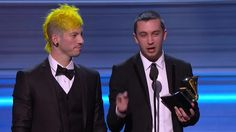 Twenty One Pilots Win Best Pop Duo/Group Performance - Twenty One Pilots' acceptance speech for Best Pop Duo/Group Performance at the 59th Annual GRAMMY Awards on Feb. 12, 2017, at Staples Center in Los Angeles.