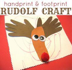 Rudolf craft #Christmas #kidscraft { Classic craft - do you have special crafts you do every Christmas? }