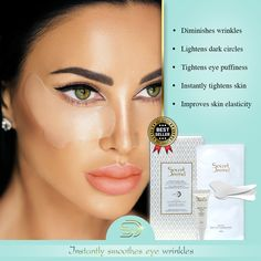 Use the effective patches for intense results against wrinkles on your face areas Eye Wrinkle, Puffy Eyes, Skin Tightening, Dark Circles, Good Skin, Patches, Eyeshadow, Skin Care, Eye Shadow