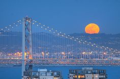 The Bay Bridge and the Full Moon