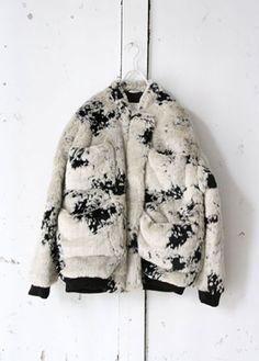 """CARIN WESTER""""REVA Furry fabric bomber jacket"""""""