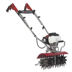 The Mantis XP Extra-Wide Tiller is Built for Bigger Yards and Gardens with a 16 Inch Tilling & Cultivating Width, Featuring a Premium Honda® Engine. Small Garden Tiller, How To Make Shorts, Outdoor Power Equipment, Cycling, Gardening, Design, Model, Bicycle