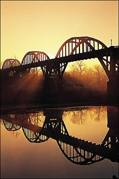 Cotter Bridge over the White River; Cotter, Arkansas  Spent my childhood summers there , love it!