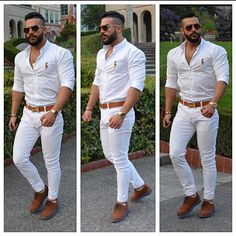 Ver esta foto do Instagram de @shaheeen_a • 806 curtidas Mens Fashion Wear, Fashion Pants, Fashion Outfits, Smart Casual Menswear, Men Casual, White Outfit For Men, Business Casual Men, Mens Clothing Styles, Stylish Men