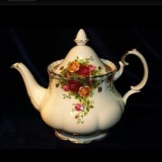 Royal Albert tea pot, old country rose. One of my favorites.