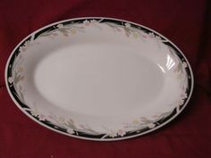 Crown Ming China and Dinnerware Michelle Pattern # 1328 Oval Serving Platter