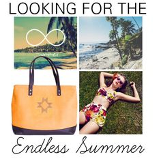 """Looking for the endless summer"" by busta on Polyvore; Featuring the All Day tote from Bùsta #busta #bustabags #leatherbag #leather #streetstyle #perforated #blue #yellow #embroidery #folklore #handmade #tote #leathertote #summer #sun"