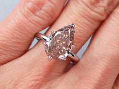 3.16 ct Pear Shape Diamond Engagement Ring. It has a spectacular Natural Chocolate color/VS2-SI1 clarity (Fracture Filled) diamond. Set in a beautifully 14k White Gold solitaire setting, this ring is listed for $7,490.  Follow this link to view this listing on our website:  http://www.bigdiamondsusa.com/3ctpeshdisoe.html  Contact Information: 1-877-795-1101   Toll Free 1-312-795-1100   International  Email: diamonds@bigdiamondsusa.com Website: www.BigDiamondsUSA.com