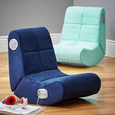Suede Mini Rocker Speaker Chair