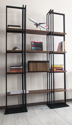 Mirror Bookcase by Havan Home Material: Iron and Wood Size: 108x34xh175 Based in Istanbul