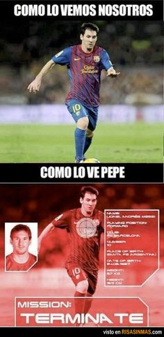 Como Pepe ve a Messi.