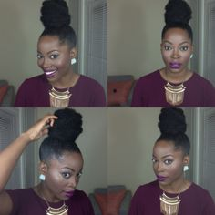 Natural Braids Bun Natural Hair Protective Styles 51 Ideas Wedding Music: Areas And Options There wi Natural Hair Bun Styles, Natural Hair Types, Natural Hair Updo, Curly Hair Styles, Black Girls Hairstyles, Bun Hairstyles, Space Buns Hair, Faux Bun, Natural Hair Inspiration