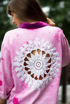 DIY: Doily Embellished Shirt