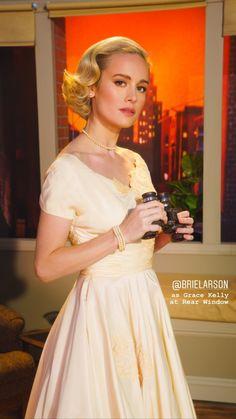 Brie Larson as Grace Kelly in Rear Window Brie Larson, Marvel Women, Marvel Actors, Famous Women, Grace Kelly, Girl Crushes, Formal Dresses, Wedding Dresses, American Actress