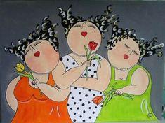 Super Ideas For Painting Canvas Woman Illustrations Plus Size Art, Funny Paintings, Fat Art, Arte Pop, Woman Painting, Painting Canvas, Whimsical Art, Female Art, Painted Rocks