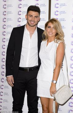 Loved up: Jake and Danielle are recently said to have moved in together after a whirlwind ...