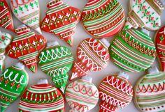 Ornament sugar cookies