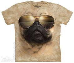 The Mountain Cotton Aviator Pug T-Shirt (Tan Large) 3d T Shirts, Cool Shirts, Funny Shirts, Green Companies, Pug Shirt, Pugs And Kisses, Big Face, My Style, Mountain
