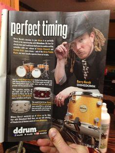 Barry Kerch in Drum Magazine
